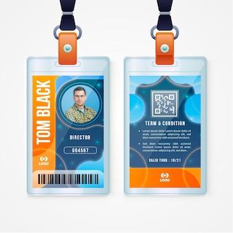 Modello astratto di carte d'identità con l'immagine