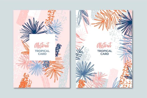 Modello astratto di carte tropicali