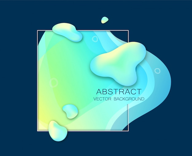 Modello astratto di forma d'onda gradiente fluido verde