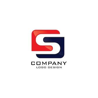 Modello astratto di lettera s logo aziendale