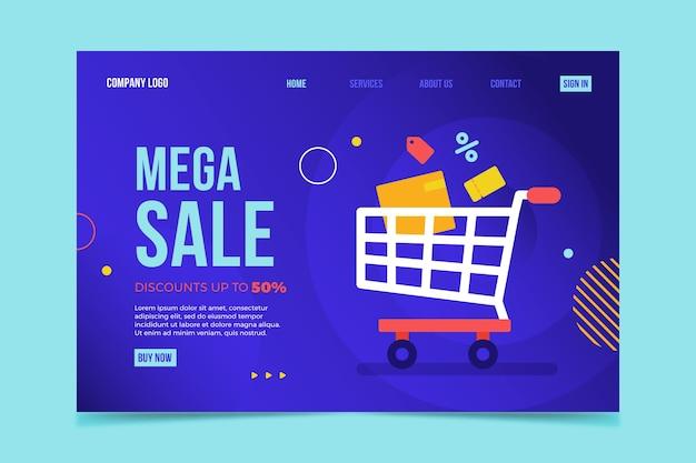 Modello astratto di pagina di destinazione delle vendite