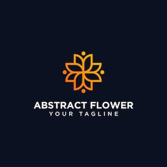 Modello astratto di progettazione di logo del fiore