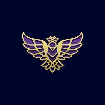 Modello astratto di progettazione di vettore dell'illustrazione di concetto dell'uccello della regina