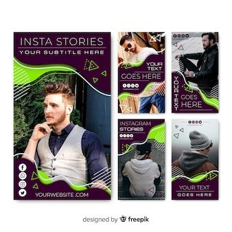 Modello astratto di storie di instagram