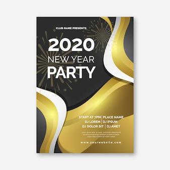 Modello astratto di volantino del partito del nuovo anno 2020