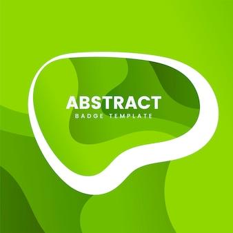 Modello astratto distintivo in verde