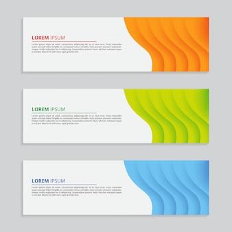 Modello astratto geometrico colorato banner