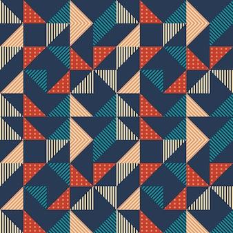 Modello astratto geometrico di hipster senza soluzione di continuità