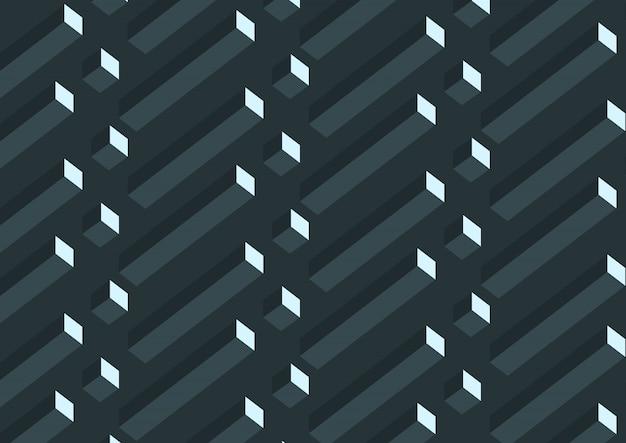 Modello astratto geometrico grigio cubi 3d.