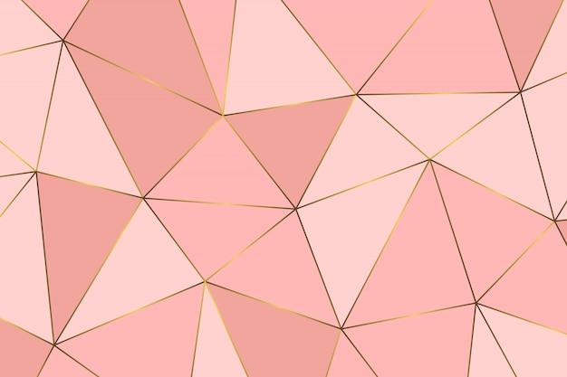 Modello astratto geometrico oro rosa