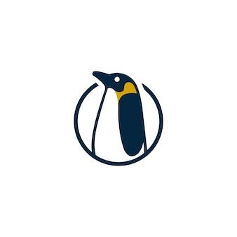 Modello astratto grafico creativo di progettazione di logo di vettore del pinguino