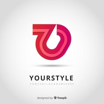 Modello astratto logo in stile sfumato