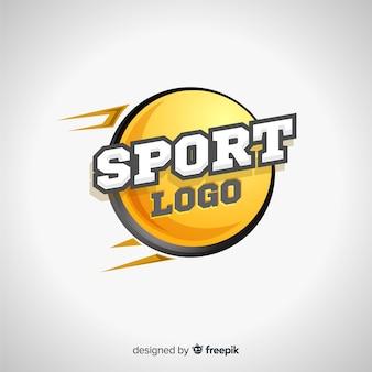 Modello astratto logotipo sportivo
