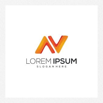 Modello astratto moderno di logo o logotipo per l'identità del marchio