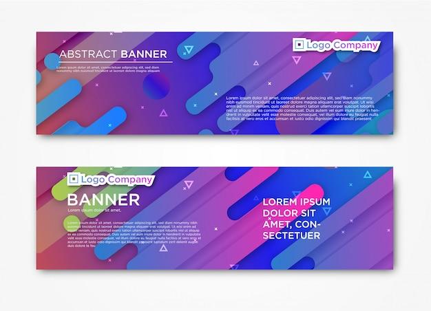 Modello astratto orizzontale moderno banner web con sfumatura