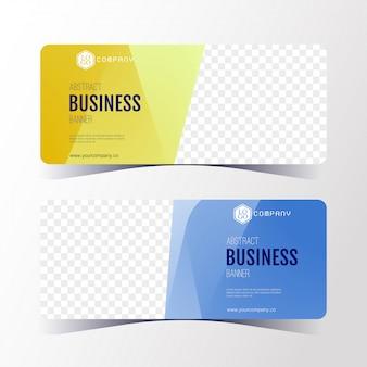 Modello astratto variopinto dell'insegna di affari, insieme di carte orizzontale dell'insegna.
