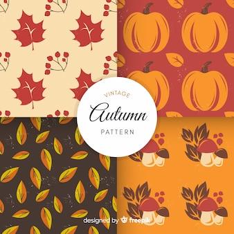 Modello autunno colorato con foglie