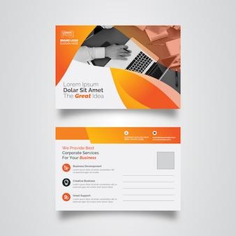 Modello aziendale post-card