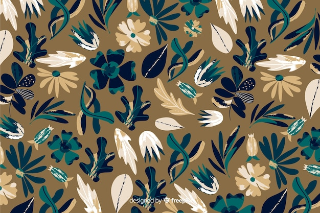 Modello batik per sfondo floreale