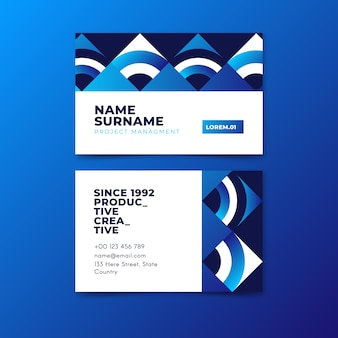 Modello blu classico astratto del biglietto da visita