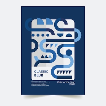 Modello blu classico astratto dell'aletta di filatoio