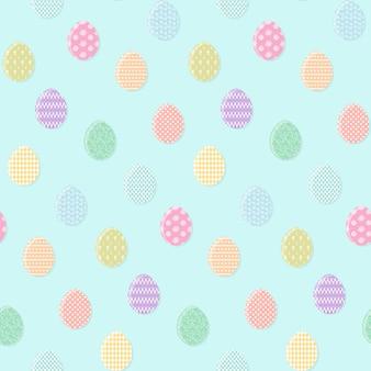 Modello blu tenero con le uova di pasqua colorate