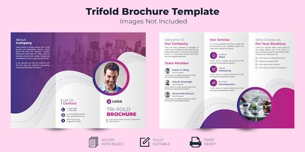Modello brochure - a tre ante