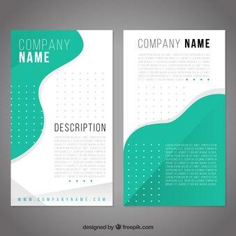 Modello brochure aziendale con forme verdi