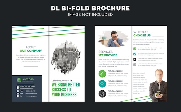 Modello brochure - bi piega dl