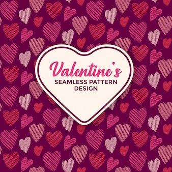 Modello carino cuore senza soluzione di continuità per san valentino