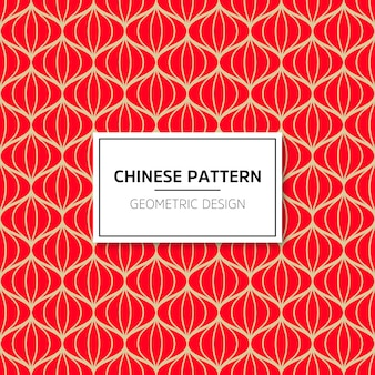 Modello cinese senza soluzione di continuità. vector sfondo rosso ornamento. decorazione con mento tradizionale