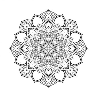 Modello circolare di mandala