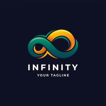 Modello colorato di infinito logo design