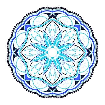 Modello colorato mandala su sfondo bianco