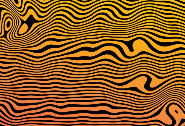 Modello colorato minimal con linee curve di sfondo