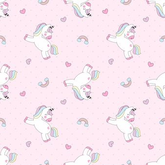 Modello colorato unicorno