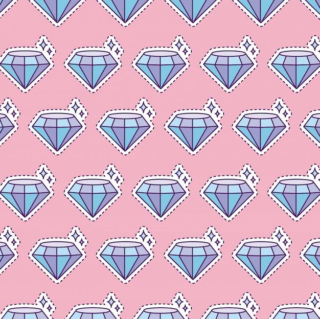 Modello con diamante brillante