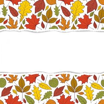 Modello con foglie d'autunno