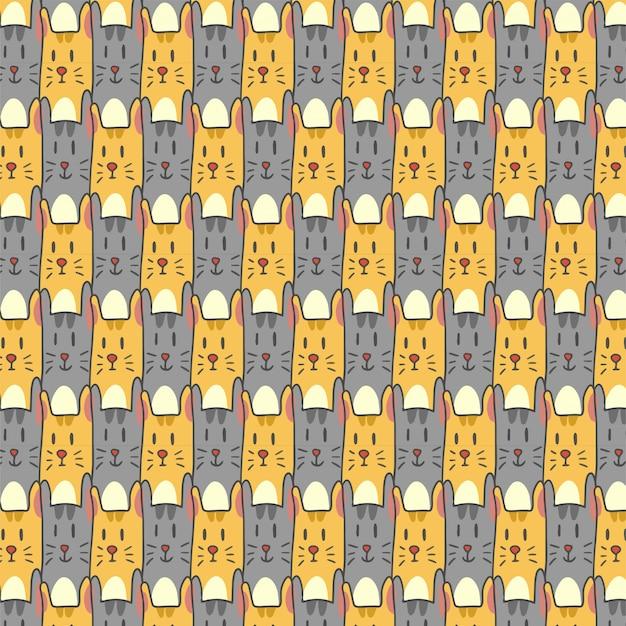 Modello con gatti gialli e grigi