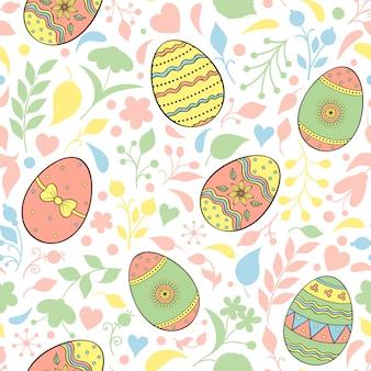 Modello con le uova di pasqua