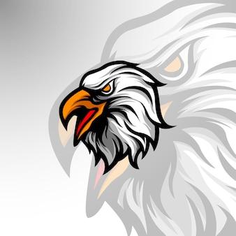 Modello con logo mascotte eagle