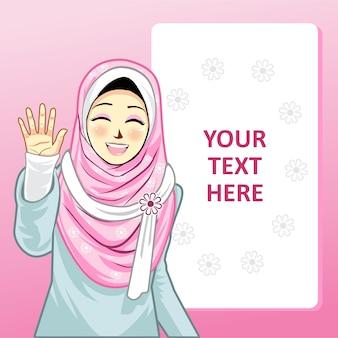 Modello con ragazza hijab