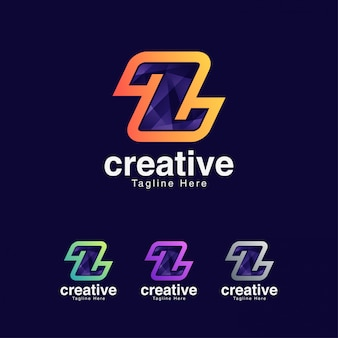 Modello creativo astratto z logo design template