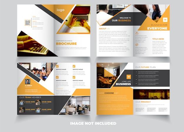Modello creativo dell'opuscolo bifold di 8 pagine