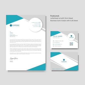 Modello creativo professionale di carta intestata e biglietti da visita