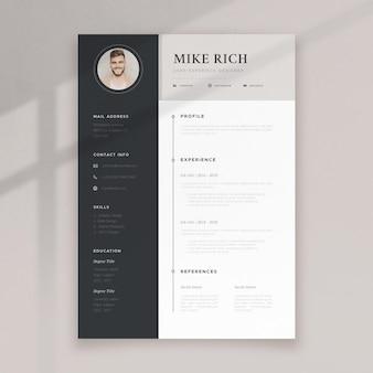 Modello cv minimalista