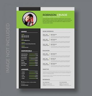 Modello cv o resume