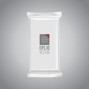 Modello d'imballaggio in bianco isolato su gray.