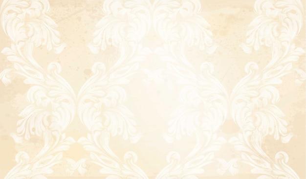 Modello damascato decorazione dell'ornamento di vettore. trame di sfondo barocco
