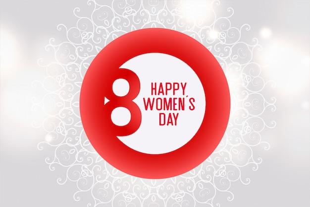 Modello del fondo di celebrazione di giornata internazionale della donna